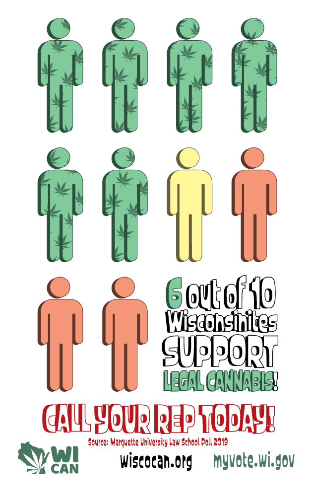 6 out of 10 Wisconsinites Support Legalization of Marijuana